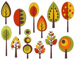retro trees clipart clip mod vintage trees by pinkpueblo
