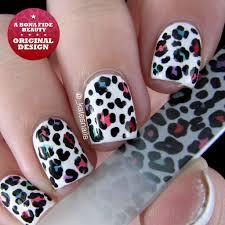3 piece leopard print genuine czech crystal glass nail files with