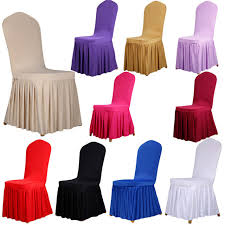 chair covers 10 colors pleated skirt style chair covers elastic spandex high