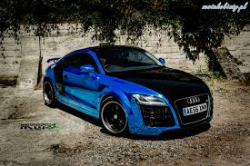 chrome blue maserati audi tt monster wraps blue chrome car audi pinterest cars