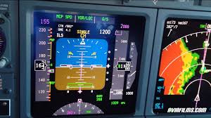 boeing 737 cockpit instrument approach landing youtube