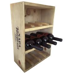 wine crate wine rack for 12 bottles free standing vintage wine
