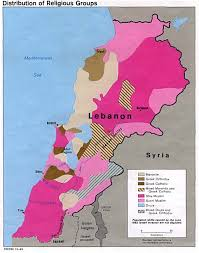 Middle East Religion Map by Nationmaster Maps Of Lebanon 21 In Total