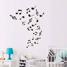 compare prices on musical note wall stickers online shopping buy diy home decor removable musical notes wall decoration decal vinyl music wall sticker for living room