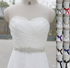 wedding dress belts best selling shiny beaded white satin wedding dress