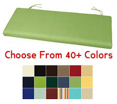 green bench cushion bench cushion 45 x 17 5 choose your color