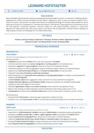 data scientist resume data science resume exles by hiration