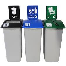 recycling receptacles 3 in 1 recycling containers recycle away