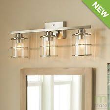 bathroom fixture light allen roth 3 light vallymede brushed nickel bathroom vanity