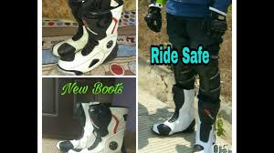 sportbike racing boots bbg riding boots review youtube