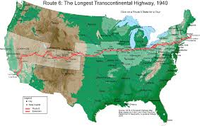 Dallas Area Code Map by Route 6 The Longest Transcontinental Highway U S Map