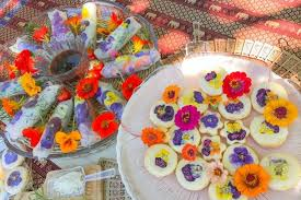 edible flowers for sale pretty produce the island farm growing edible flowers for