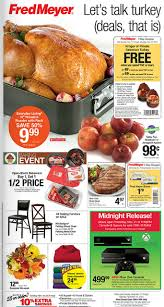 fred meyer coupon deals 11 17 11 23 free turkey offer