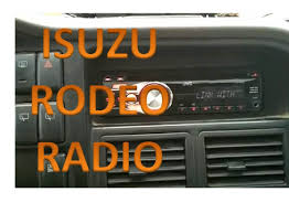 isuzu rodeo radio installation youtube
