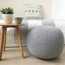 best knitted poufs for your home decor the knitted hat