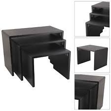buy nest of tables high gloss black nest tables set of 3 accent end side coffee table