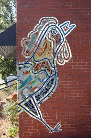 2694 best mosaic mania images on pinterest mosaic art stained mosaic mural rooster by lanelle davis old hatchery bldg pittsboro nc