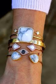 cuff bracelet with stones images Jewels crystal gold boho cuff bracelets stone marble shiny jpg
