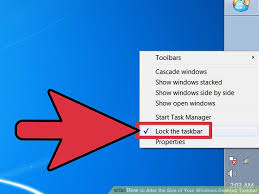 Windows 7 Bar At Top Of Screen How To Alter The Size Of Your Windows Desktop Taskbar 8 Steps