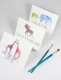 water color cards diy watercolor animal cards
