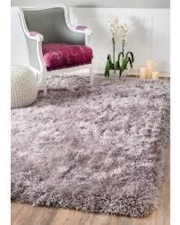 bargains on nuloom solid soft and plush white grey shag rug 7 u00276