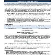 resume sle template resume profile exles logistics new supply chain management