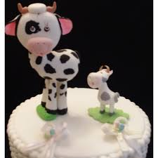 black cake toppers milk and cookies baby shower cow and baby cake topper cow