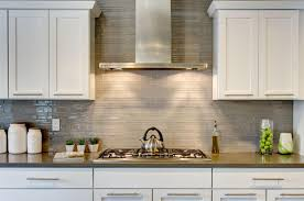 full height mosaic glass tile backsplash kitchen inspiration