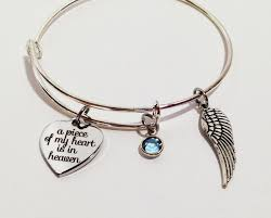 baby remembrance gifts a of my heart is in heaven bracelet memorial bracelet