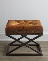 warona leather bench neiman marcus stools and legs