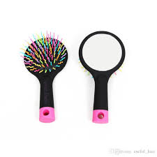 best hair brushes rainbow comb brush mirror air massage curly hair extensions comb