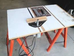 convert circular saw to table saw my table saw from a circular saw redone
