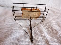 antique french wire rustic bread toaster fireplace tool