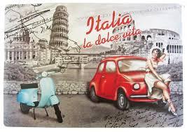 set de table vintage set de table vespa la dolce vita italia déco rétro vintage