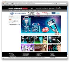 king of shaves online store design u003e swearingdad design