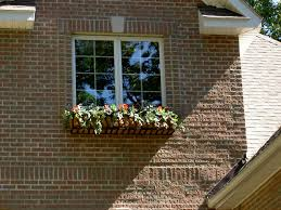 Brick Home Designs Coir Lined French Window Box On A Brick House Hooks And Lattice