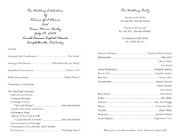 wedding church program templates program template 7