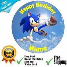 sonic the hedgehog cake topper sonic the hedgehog square cake ebay