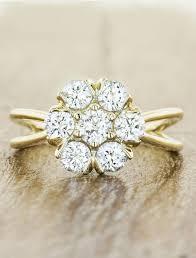 flower shaped rings images Pari flower shaped diamond gold engagement ring ken dana design jpg