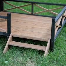 boomer u0026 george lodge dog house with porch large hayneedle