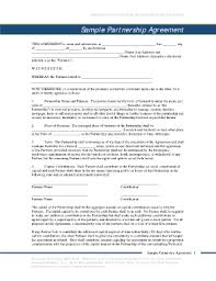 general partnership agreement template forms fillable