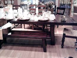 Pottery Barn Toscana Bench by Benchwright Dining Table Ebay Benchwright Rustic X Base Round