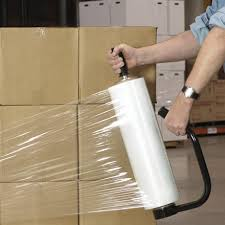 stretch foil plastic stretch wrap rollers cling package warehouse