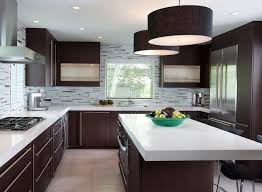 dark cabinet kitchens dark kitchen cabinets wall color wooden tables and chairs simple