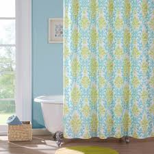 Hawaiian Print Shower Curtains by Mi Zone Microfiber Printed 72x72