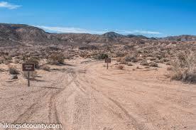 Border Patrol Checkpoints Map Volcanic Hills Loop Anza Borrego Desert State Park Hiking San