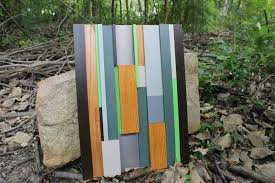 Earth Home Decor by Hand Crafted Modern Wood Art In Earth Tone Colors Home Decor