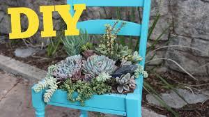 planter for succulents succulent chair succulent planter diy diy with caitlin youtube