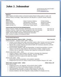Job Resume Samples by Resume Examples For Medical Coding Resume And Cover Letter