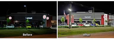 led parking lot lighting synergy lighting